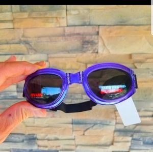 Women Purple Goggles Motorcycle Padded PPE